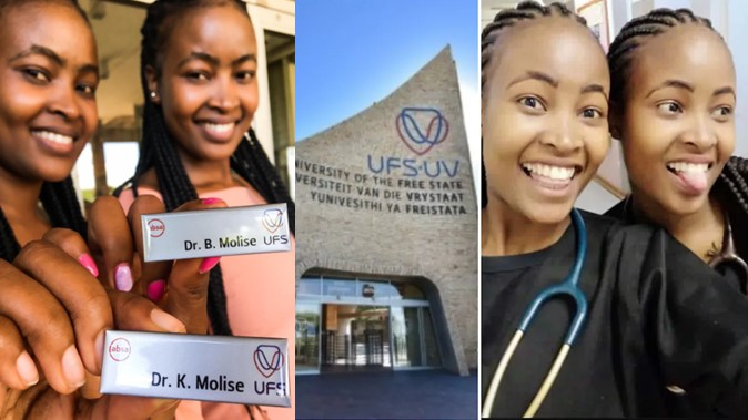 Pretty twin sisters go viral as they become medical doctors same day