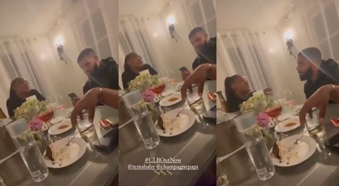 VIDEO SHOWING DRAKE AND TEMS DINING TOGETHER